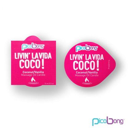 Vela de masaje pequeña living la vida Piña y Coco erotico placer la casita de coco