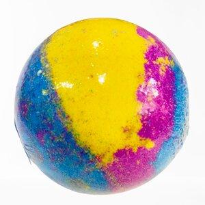 bomba de baño galactica rainbow efecto arcoiris aromatica la casita de coco aroma lima
