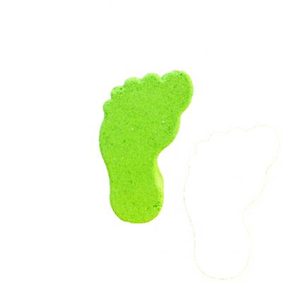bomba de baño pies verde la casita de coco