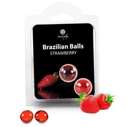 brazilian balls fresas bolas brasileñas lubricante monodosis secretplay erotico la casita de coco