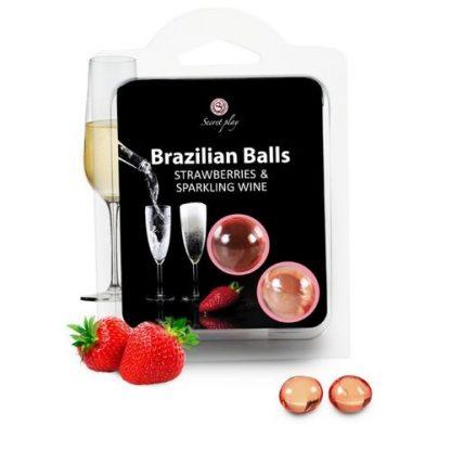 brazilian balls fresas con cava bolas brasileñas lubricante monodosis secretplay erotico la casita de coco