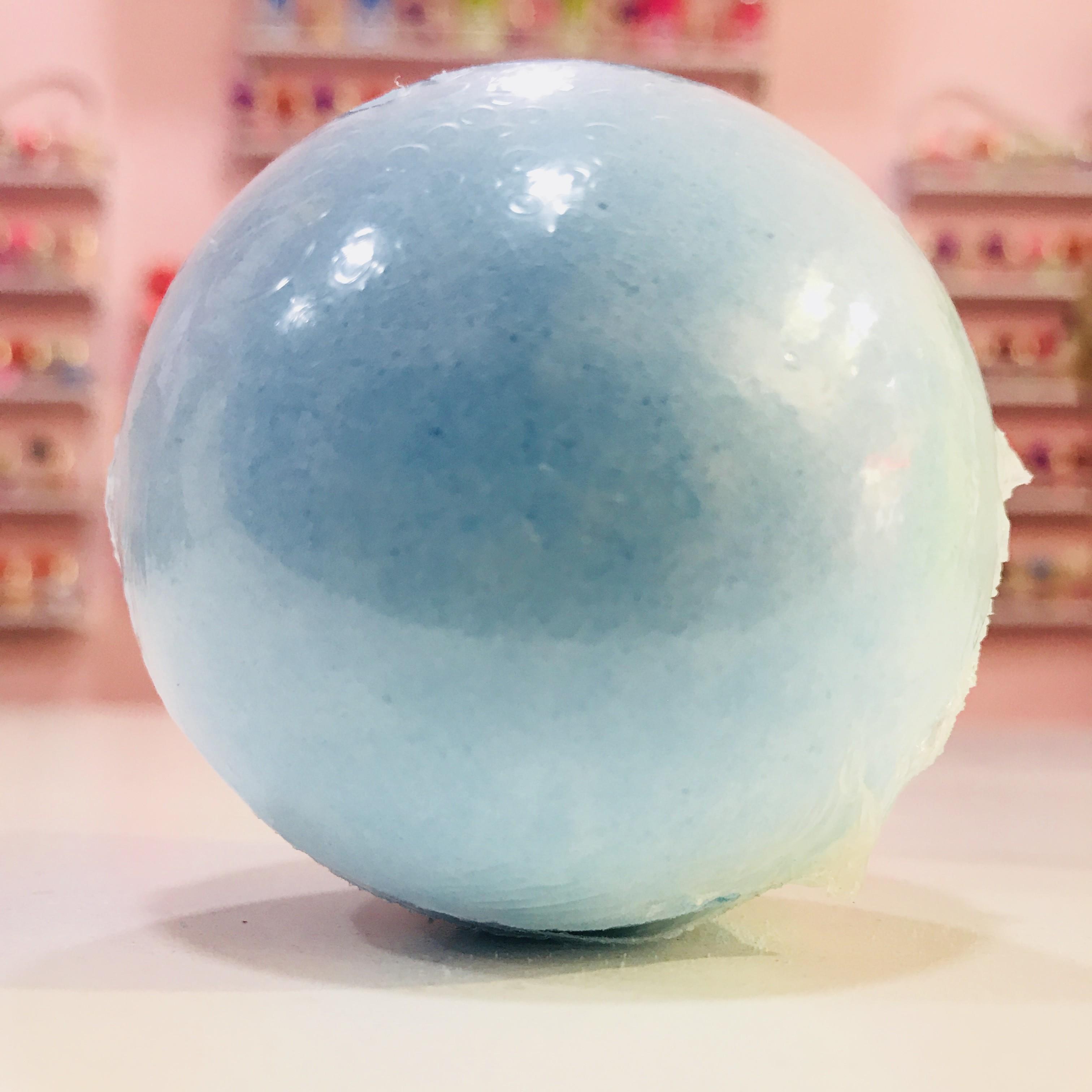 Bomba de baño redonda Azul