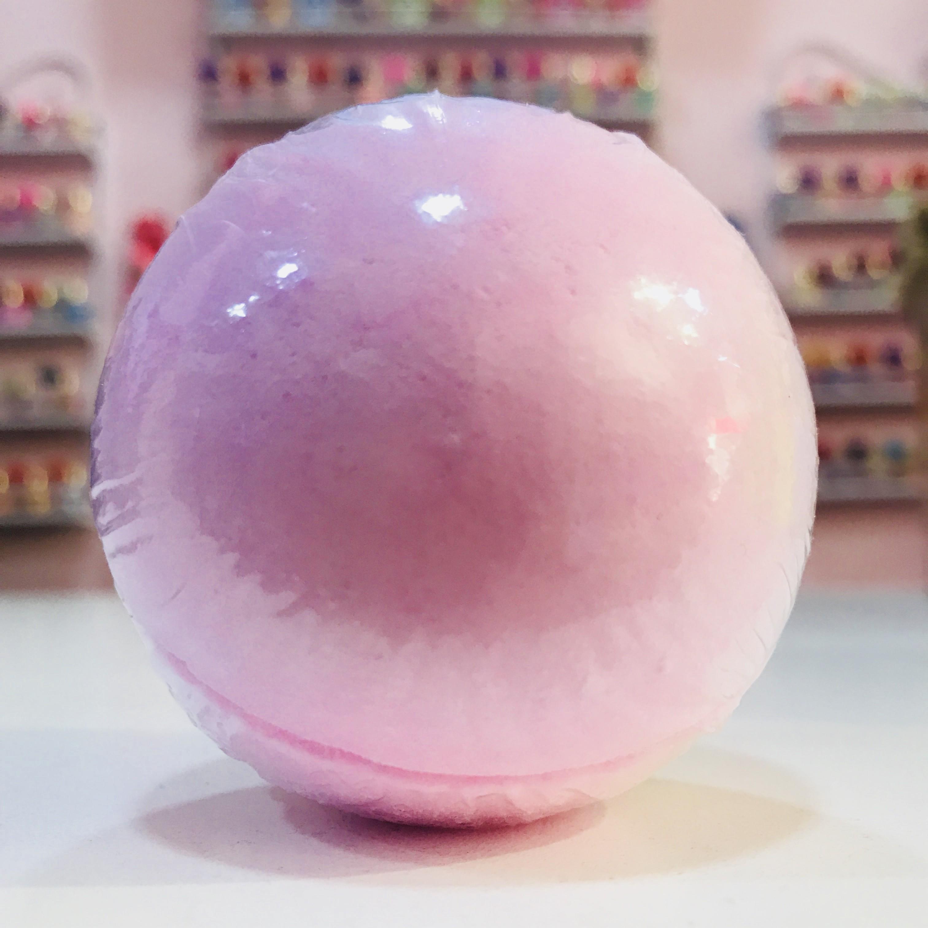 Bomba de baño redonda Rosa