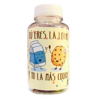 Bote de chuches - Tu eres la leche y yo las mas cookie
