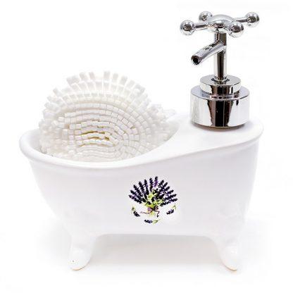 Jabonera dosificador de Jabón lavanda
