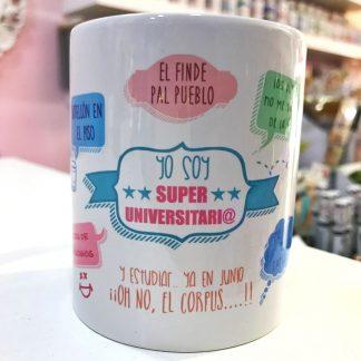 "Taza ""Soy Super Universitari@"""