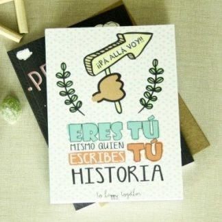 "Libreta ""Tu mismo eres quien escribes tu historia"""