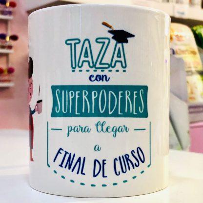 "Taza ""Profe con super poderes"""