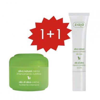PROMO 1+1 OLIVA Crema facial nutriviva y Contorno de ojos
