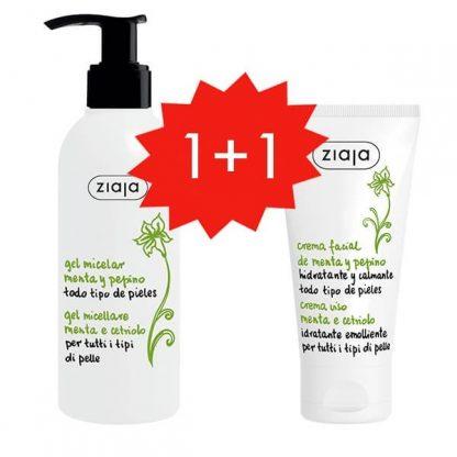 PROMO 1+1 MENTA Y PEPINO Gel limpiador y Crema facial